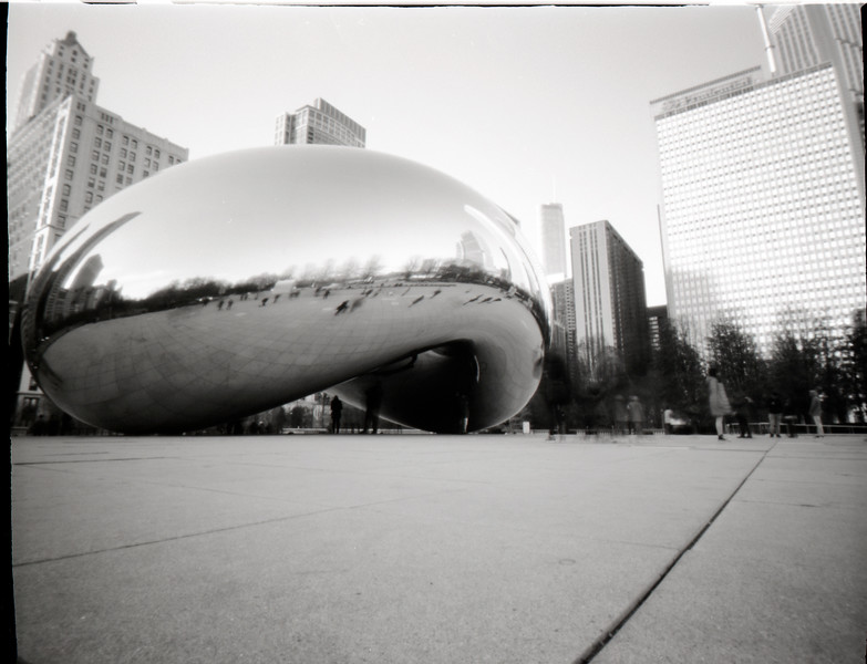 Cloud Gate (The Bean), Chicago, pinhole photograph