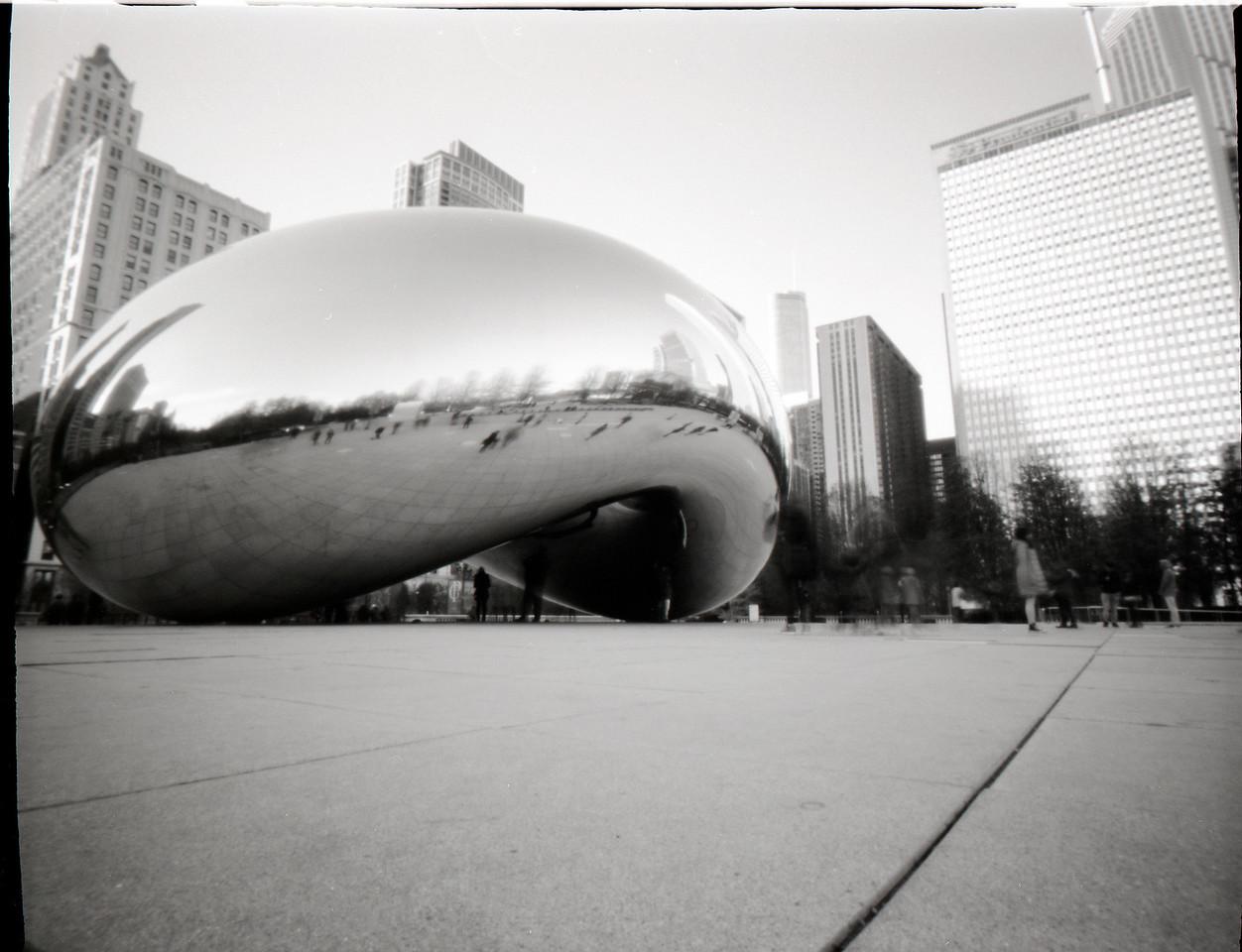 Cloud Gate (The Bean), Chicago, pinhole photograph