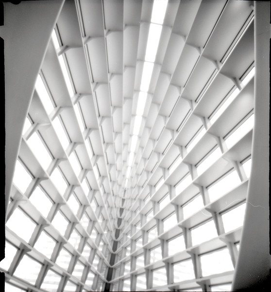 More Milwaukee Art Museum, pinhole photograph