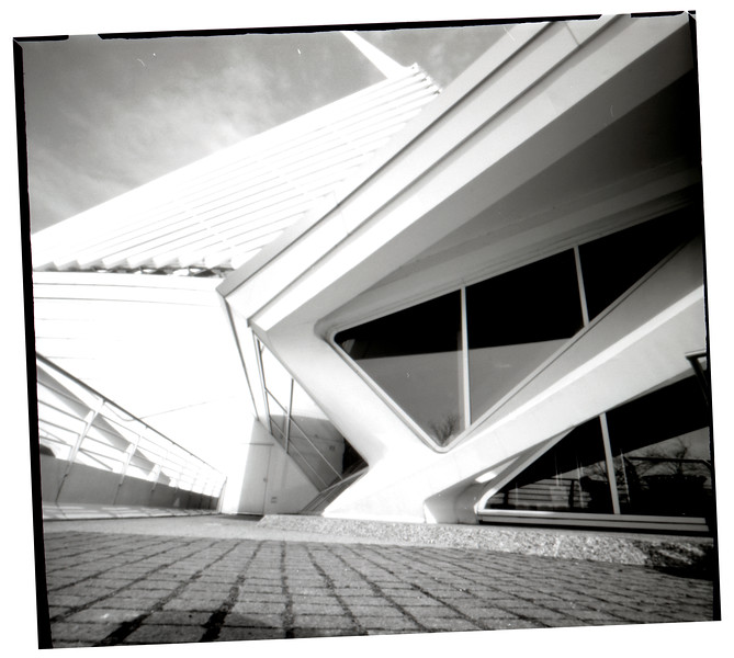 Milwaukee Art Museum, pinhole photograph
