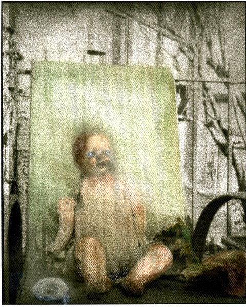 Handcolored Doll, 2011. 120 format, Pentax 67 camera with pinhole lenscap.