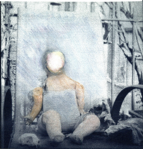 Faceless Doll, 2011.  120 format, Pentax 67 camera with pinhole lenscap.