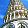 Looking Up At the Leaning Tower of Pisa in Italy