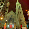 """Trinity Church in downtown Pittsburgh, Pennsylvania  dates back to the Penn's land grants of 1787 the church consists of Trinity Cathedral and Trinity Churchyard. The rich history of the site dates even before the establishment of the church, centered on a terrace above the historic """"point"""" (where the Allegheny River and the Monongahela River join to form the Ohio River) it was one of the few places in this strategic area that was immune from once-a-decade flooding or erosion. For this reason it was long sacred ground for the Iroquois  and other native American tribes as a burial ground, the French also used this site as a cemetery. The Trinity Churchyard has the oldest marked graves west of the Atlantic Seaboard, of both native American leaders, French, English, and American colonists.  <a href=""""http://en.wikipedia.org/wiki/Trinity_Church_%28Pittsburgh"""">http://en.wikipedia.org/wiki/Trinity_Church_%28Pittsburgh</a>,_Pennsylvania%29"""
