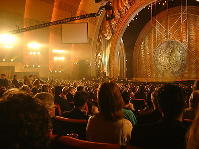 My view of the 2000 Tony Awards, Radio City Music Hall in New York
