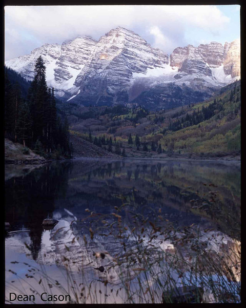 Maroon Bells (Aspen).  Don Johnson coughing in the bg.  Funny guy.
