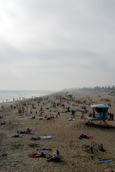 a gloomy day at the beach