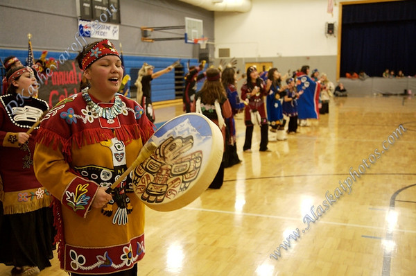 Drumming at Eyak Sobriety Celebration