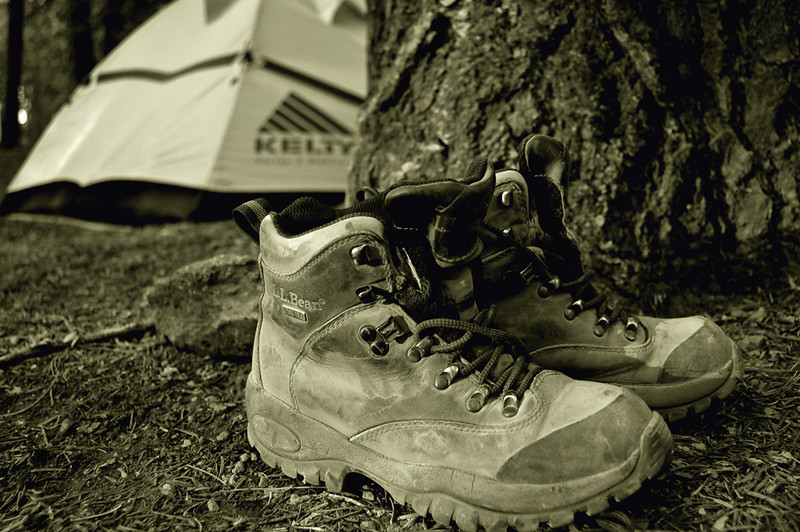 Boots in Yosemite.