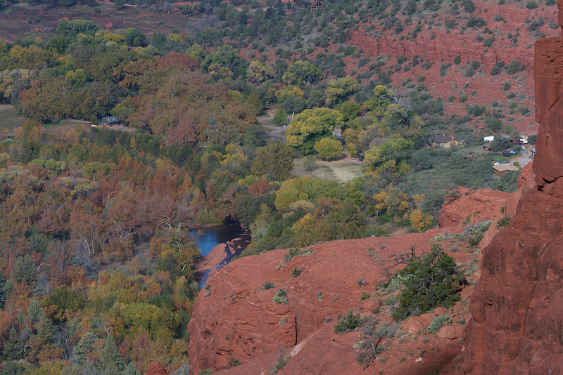 From Cathedral Rock Saddle - Red Rock Crossing below