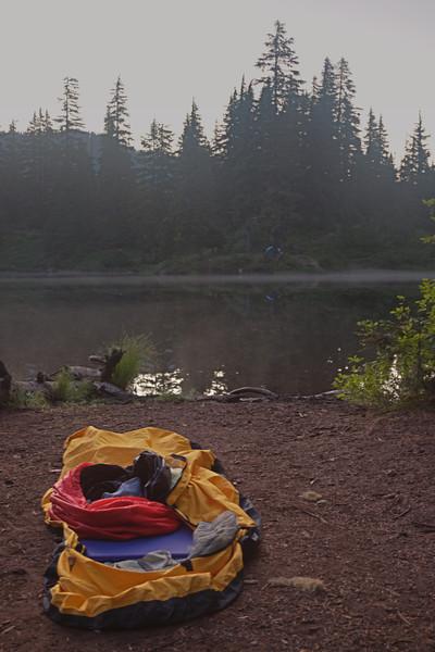 Camp at Hope Lake