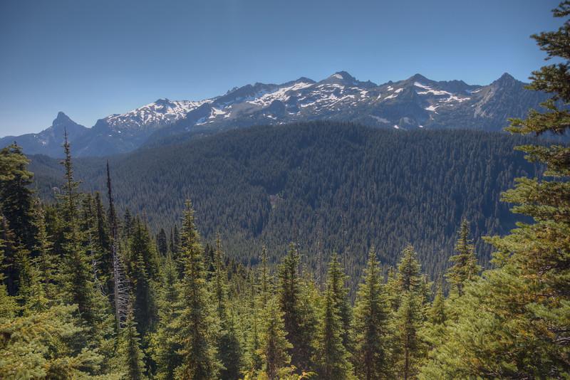 ridge rising back toward Mt. Daniel
