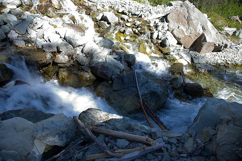 Treacherous Crossing - I didn't go this way - glad I didn't - slippery rocks