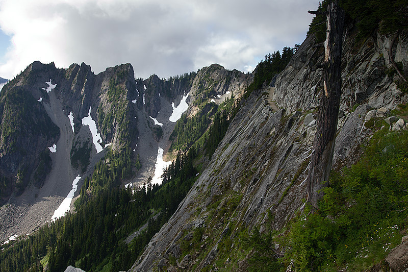The Kendall Katwalk and Kendall Peak behind