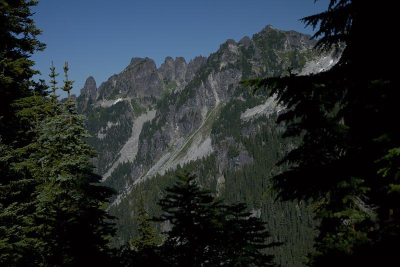 Thunder Mtn with Slippery Slab Tower on left