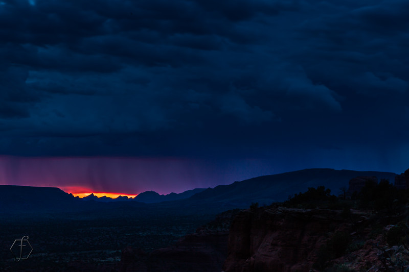 Stormy Sunset North of Doe Mountain