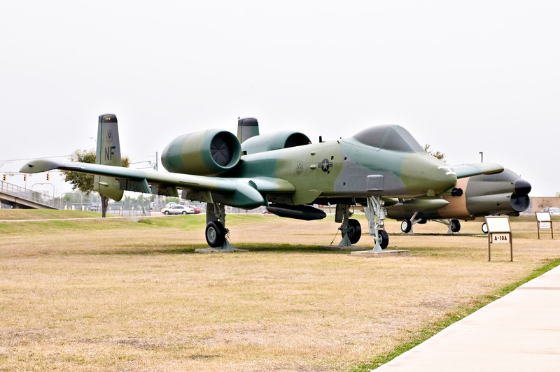A-10 Warthog on display at Lackland AFB.