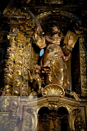 Gold plated saints, The Cathedral of Barcelona