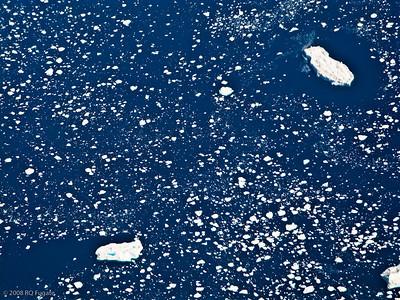 Big icebergs and 'little' icebergs.