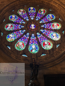 Rose Window in Lisbon Cathedral