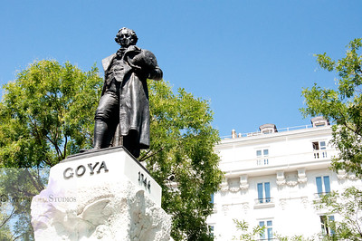 Goya statue outside the Prado