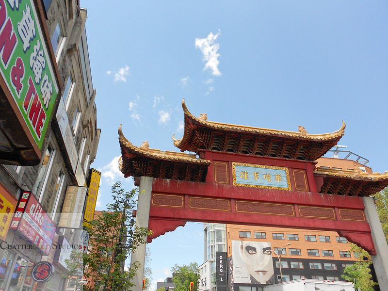 Walking into Chinatown, Montreal, Quebec, Canada