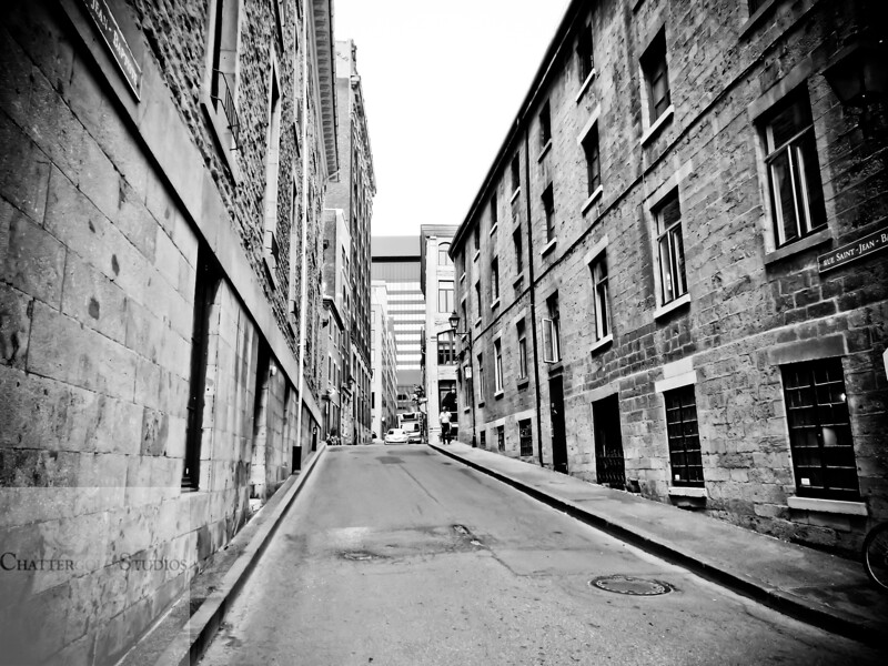Quiet street in old Montreal