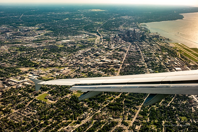 Coming around to final approach to Hopkins International