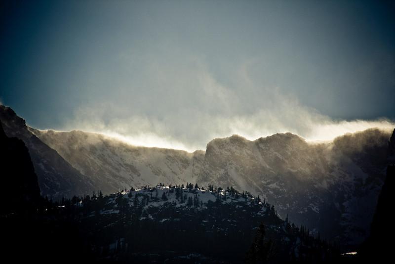 Windswept peaks.
