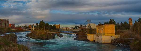 Spokane falls on the way home