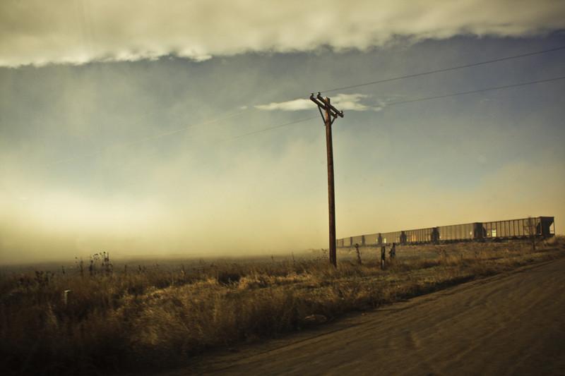 Foggy trains.