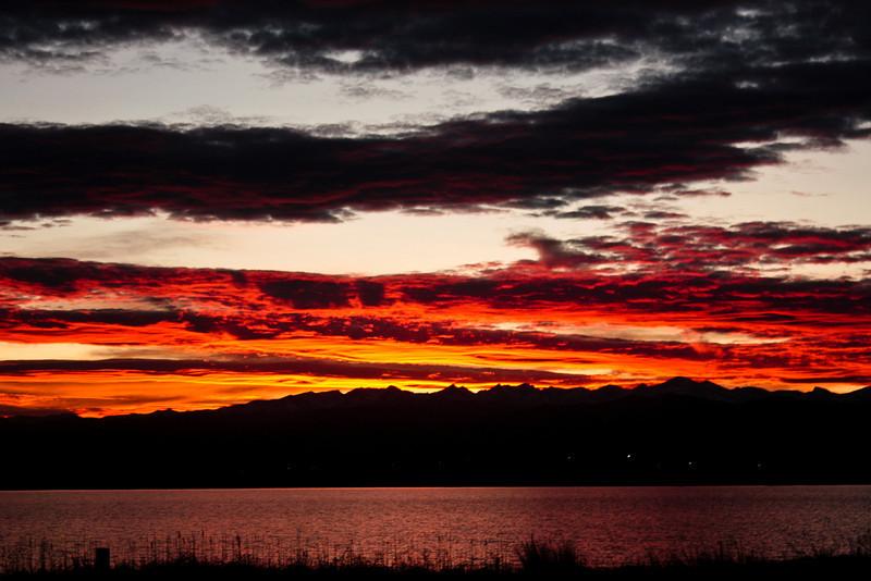 Sunset, Union Reservoir.