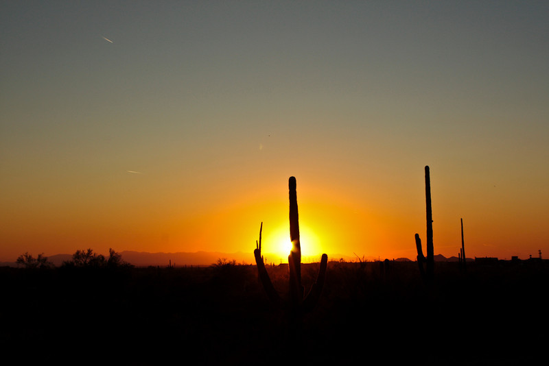 Sunset, Lost Dutchman State Park.