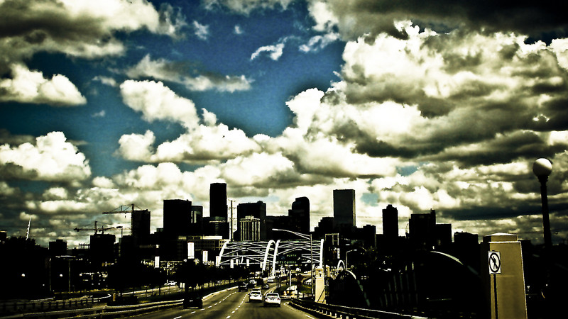 Driving into Denver.