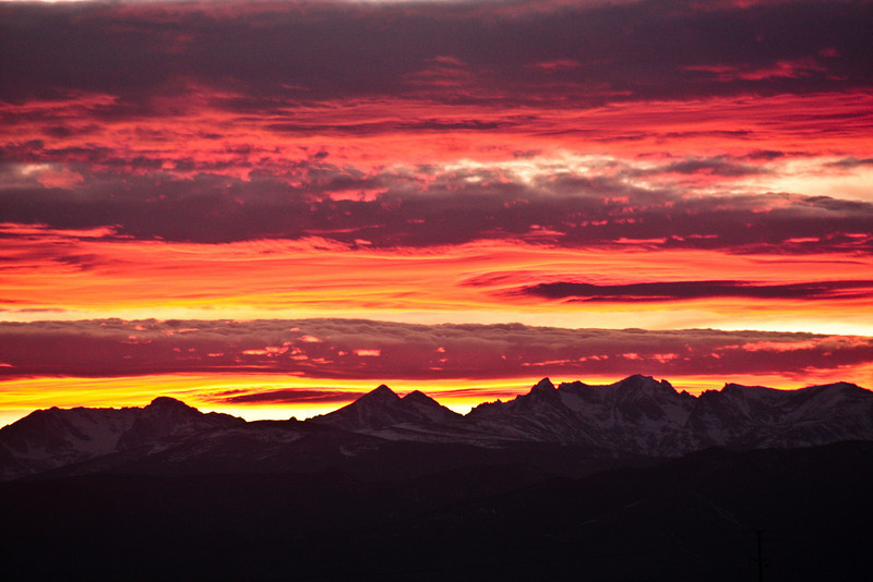 Sunset over the Rockies.