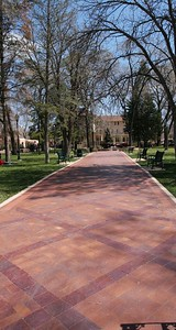 A brick walk in the park