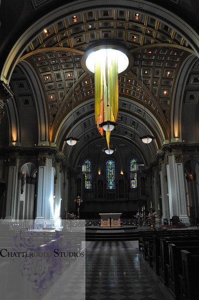 Interior of St. James Cathedral Seattle Washington