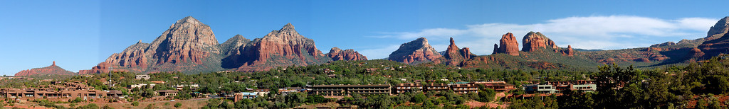 Schnebly Hill Pano - Uptown Sedona