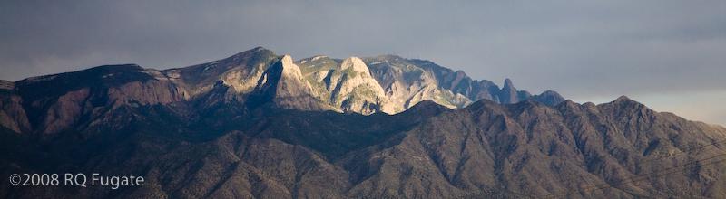 Sandia Mountains on the drive to Albuquerque