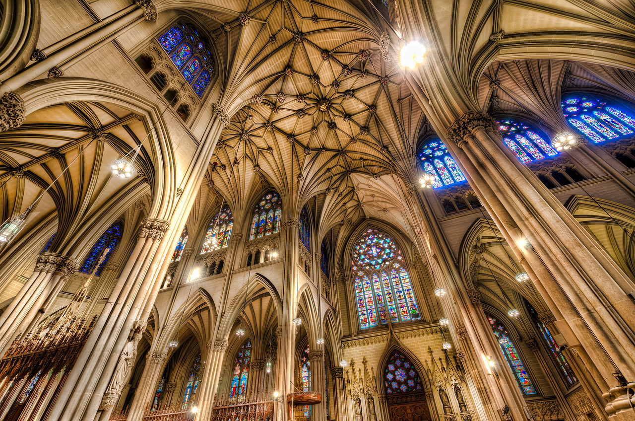 Under the Arches of St. Patrick's Cathedral