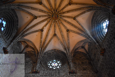 Detailed Ceiling of the Chapel of the Holy Grail