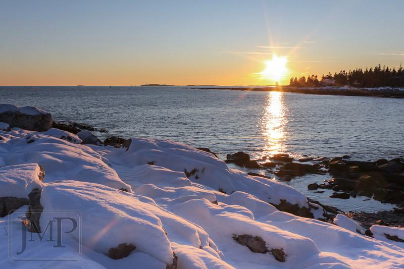 Sunset from the rocks at Pemaquid Point Lighthouse