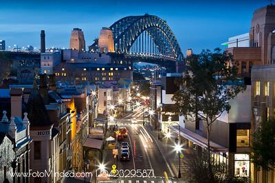 Sydney Harbor Bridge from The Rocks.