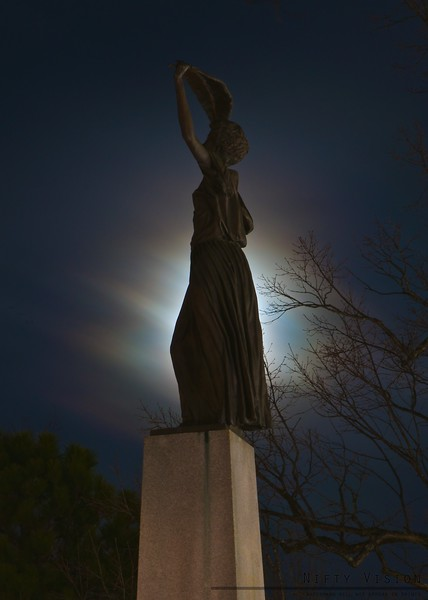 """""""By the Moon's Glow""""<br /> North Carolina Veteran's Monument - Raleigh, NC"""