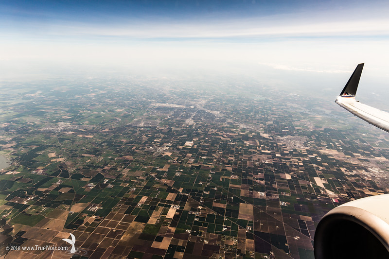 Cubism in Countryside, aerial photography