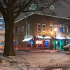 City Market in Raleigh on a snowy January night