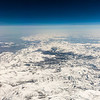 Snow covered Sierra Nevada, aerial photography