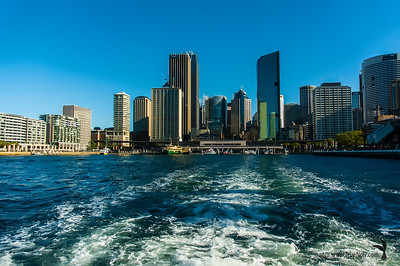 Leaving Circular Quay, Sydney Harbor