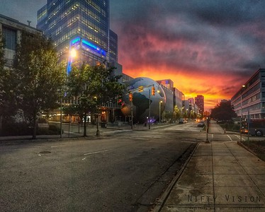 Sunset over Raleigh
