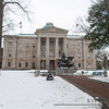North Carolina Capital Building in the snow.